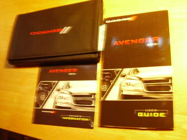 2012 Dodge Avenger Owners Manuals