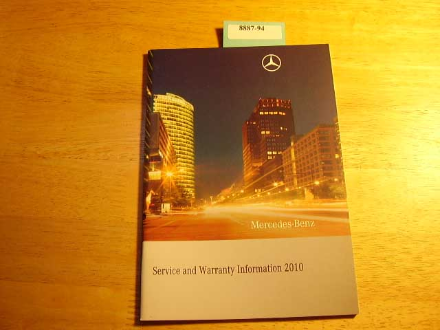2010 Mercedes Service and Warranty Only Owners Manual