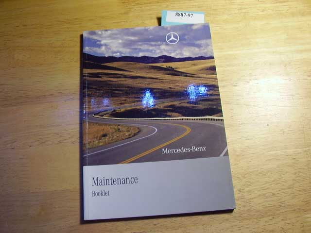2010 Mercedes Maintenance Booklet Only Owners Manual