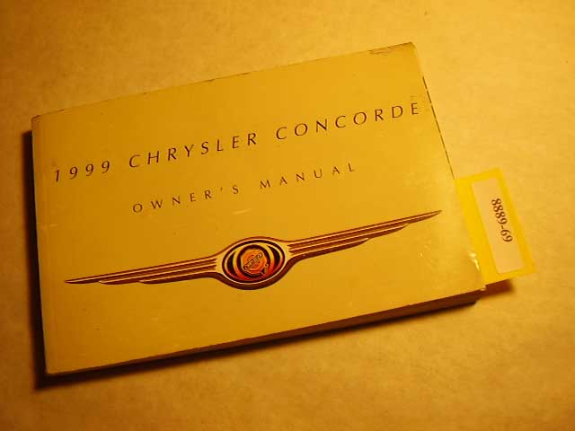 1999 Chrysler Concorde Owners Manuals