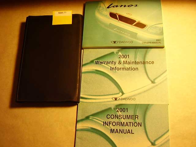 2001 Daewoo Lanos Owners Manual
