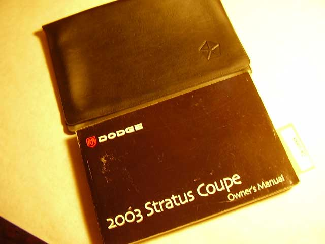 2003 Dodge Stratus Coupe Owners Manuals
