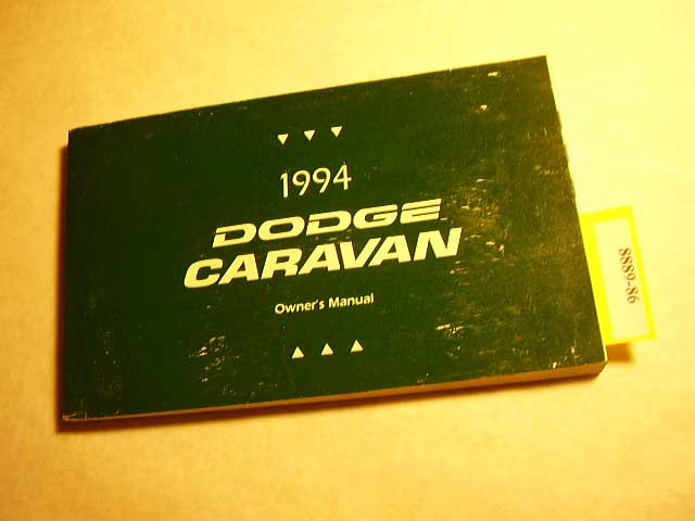 1994 Dodge Caravan Owners Manuals