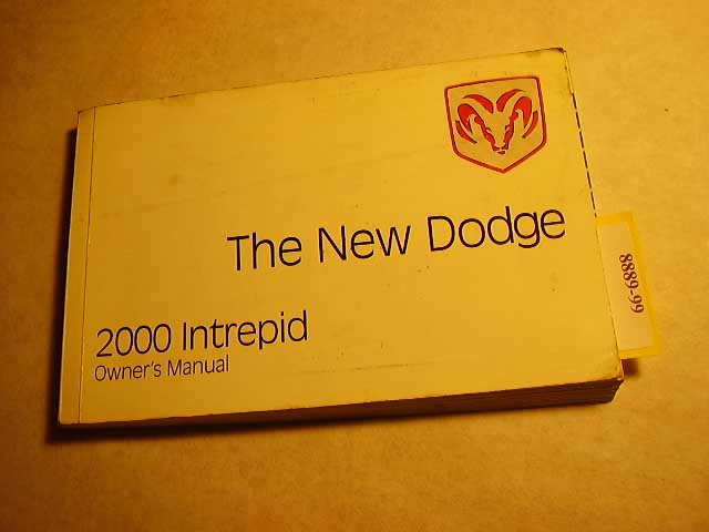 2000 Dodge Intrepid Owners Manuals