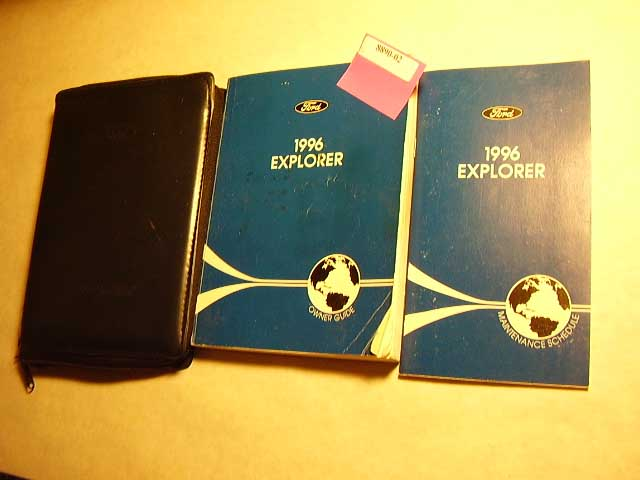 1996 Ford Explorer Owners Manuals