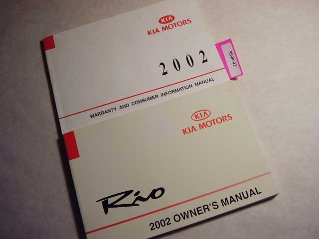 2002 Kia Rio Owners Manual