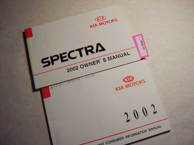 2002 Kia Spectra Owners Manual