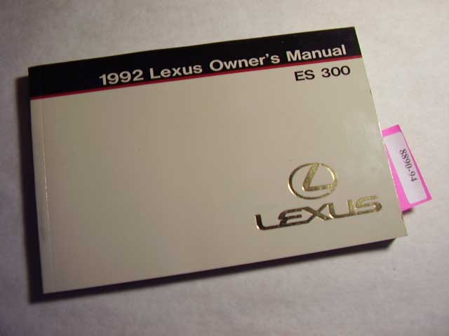 1992 Lexus ES300 Owners Manual