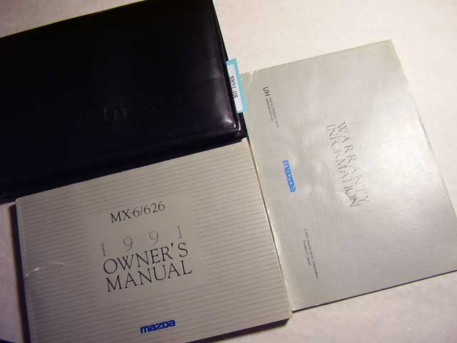 1991 Mazda MX-6 626 Owners Manual
