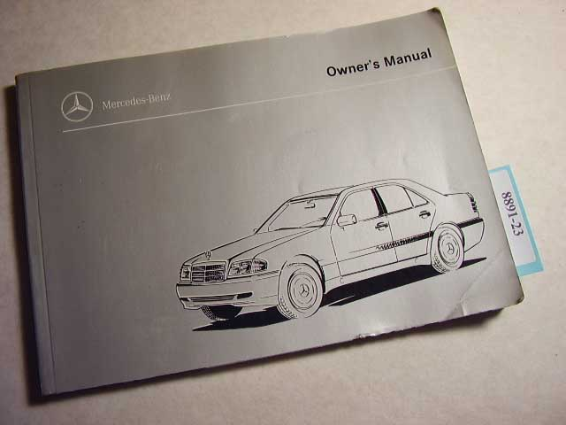 1999 Mercedes C230 Kompressor C280 Owners Manual