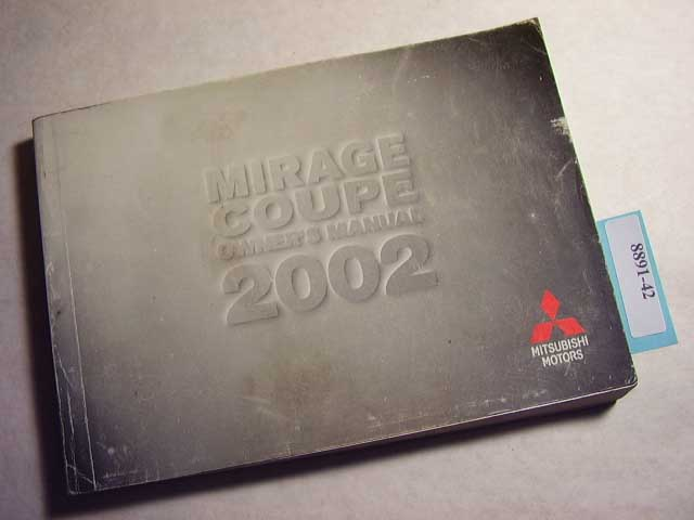 2002 Mitsubishi Mirage Coupe Owners Manual