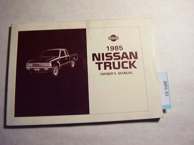 1985 Nissan Truck Owners Manual