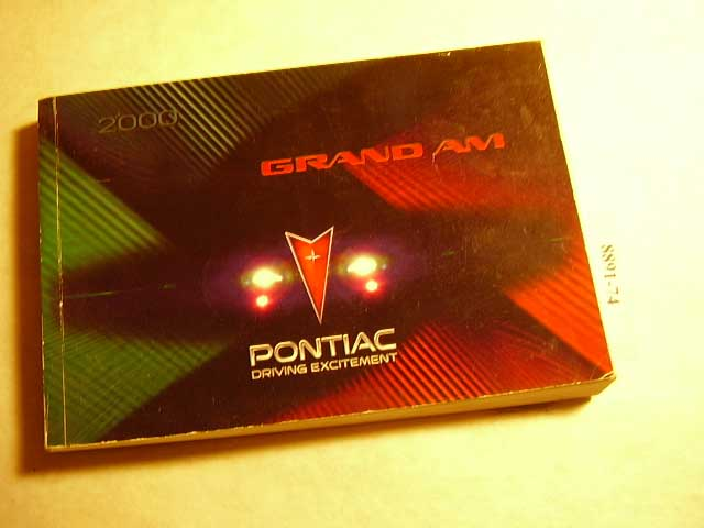 2000 Pontiac Grand Am Owners Manual
