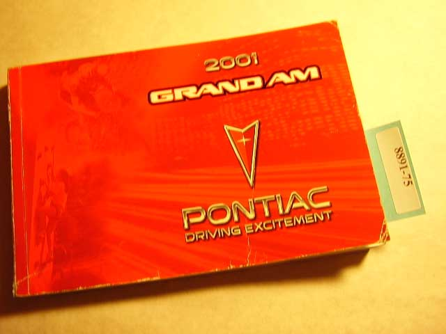 2001 Pontiac Grand Am Owners Manual