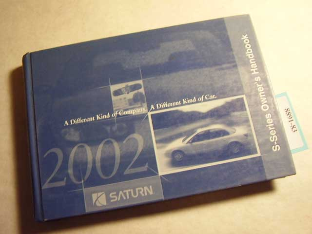 2002 Saturn S-Series S Owners Manual