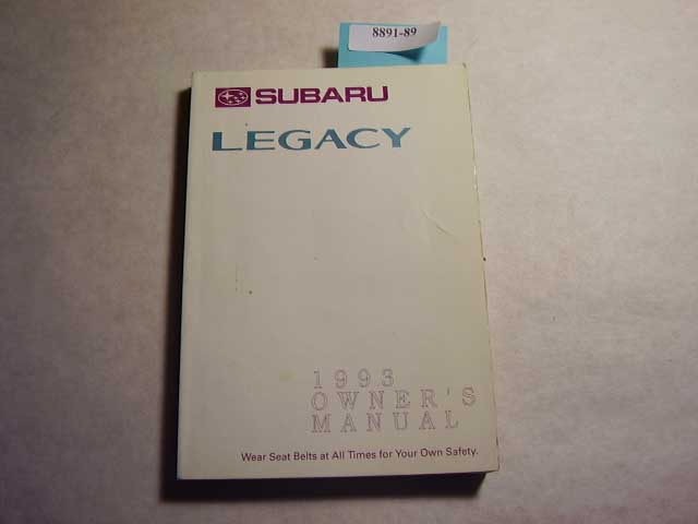 1993 Subaru Legacy Owners Manual