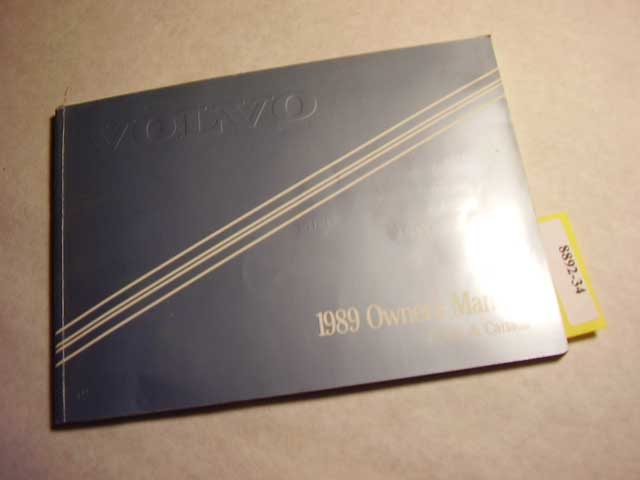 1989 Volvo 740 Owners Manual