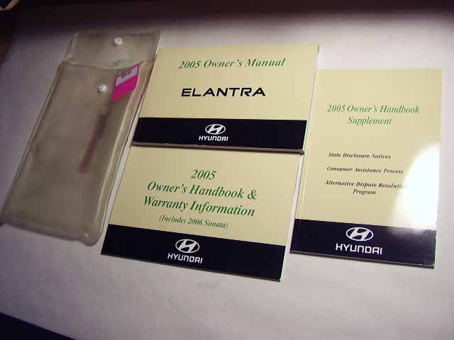 2005 Hyundai Elantra Owners Manual