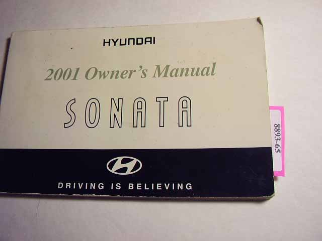 2001 Hyundai Sonata Owners Manual