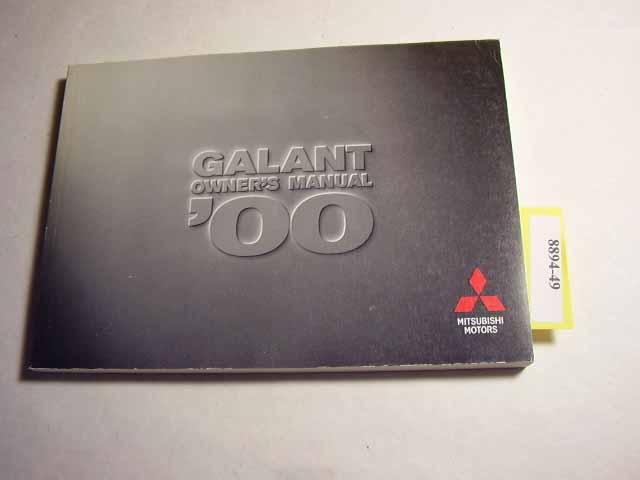 2000 Mitsubishi Galant Owners Manual