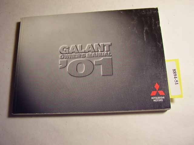 2001 Mitsubishi Galant Owners Manual