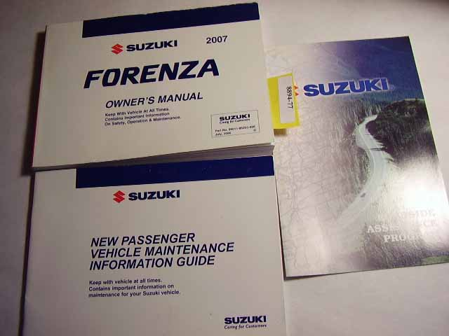 2007 Suzuki Forenza Owners Manual
