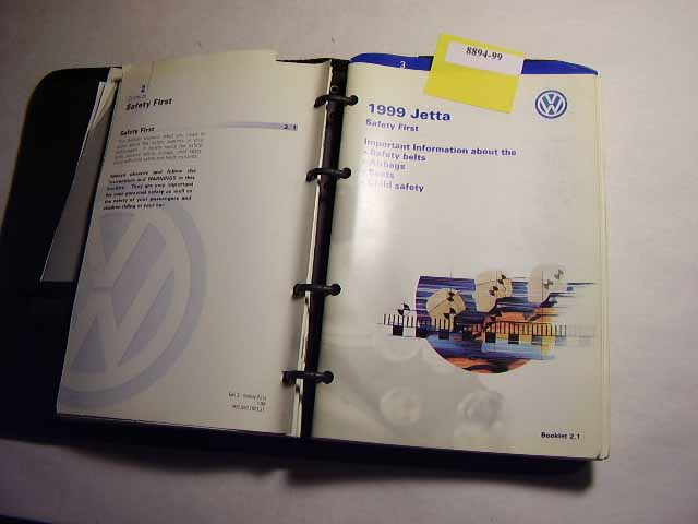 1999 Volkswagen Jetta Owners Manual