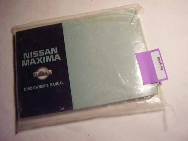 1991 Nissan Maxima Owners Manual