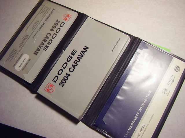2004 Dodge Caravan Owners Manuals