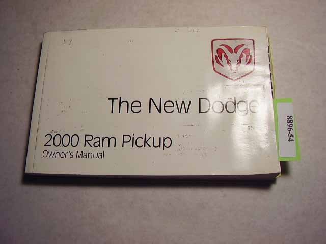 2000 Dodge Ram Pickup Truck Owners Manuals
