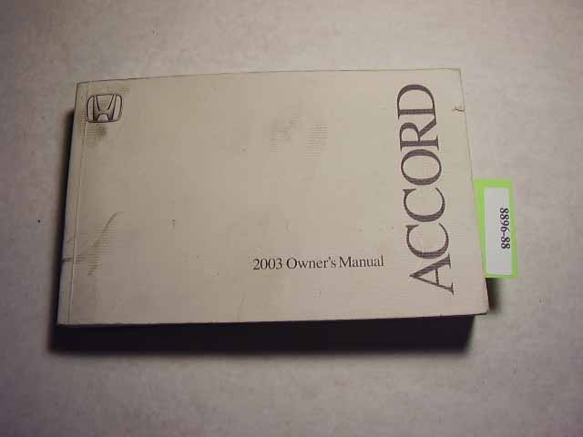 2003 Honda Accord Coupe Owners Manual