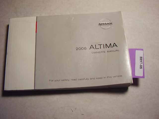 2006 Nissan Altima Owners Manual