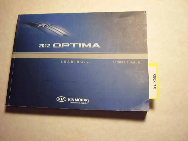 2012 Kia Optima Owners Manual