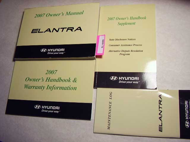 2007 Hyundai Elantra Owners Manual