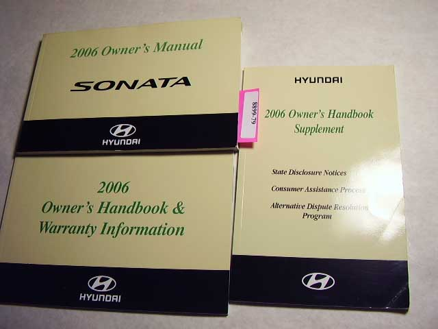 2006 Hyundai Sonata Owners Manual